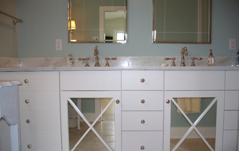 Custom White Bathroom Cabinetry