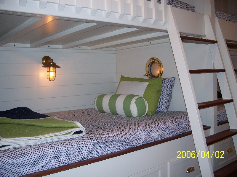 Custom Wood Bunk Beds and Staircase