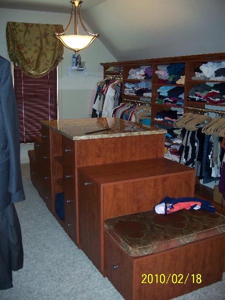 Custom Walk In Closet Wood Storage