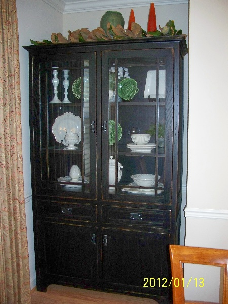 Custom Residential Wood China Cabinet