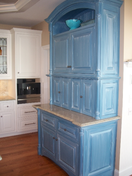 Custom Blue Kitchen Cabinets