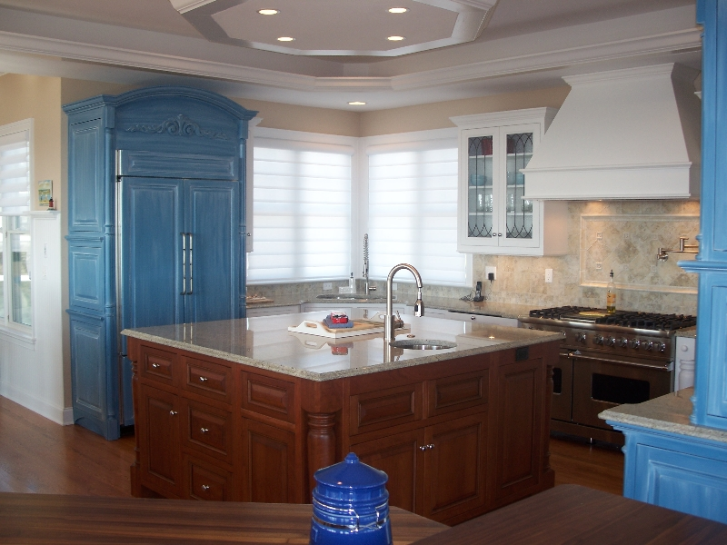 Custom Made Kitchen Cabinets, Island, and Storage
