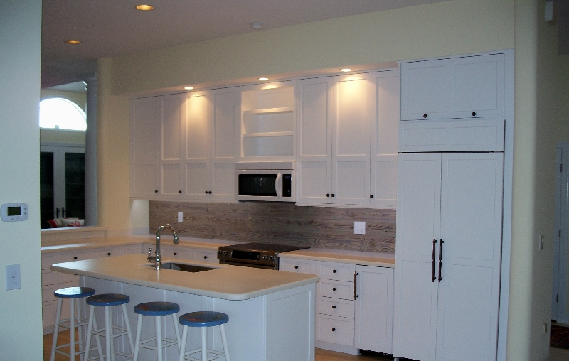 Custom Made All White Kitchen Cabinets