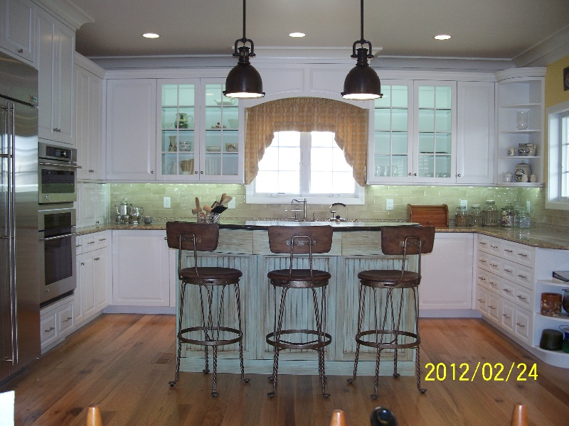 Custom All White Kitchen Cabinets