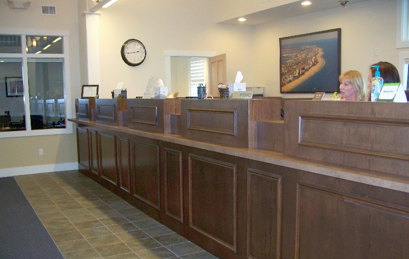 Custom Commercial Bank Woodwork