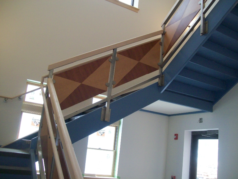 Custom Wood Staircase Side Panels