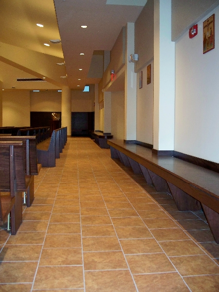 Custom Church Pews & Side Seating