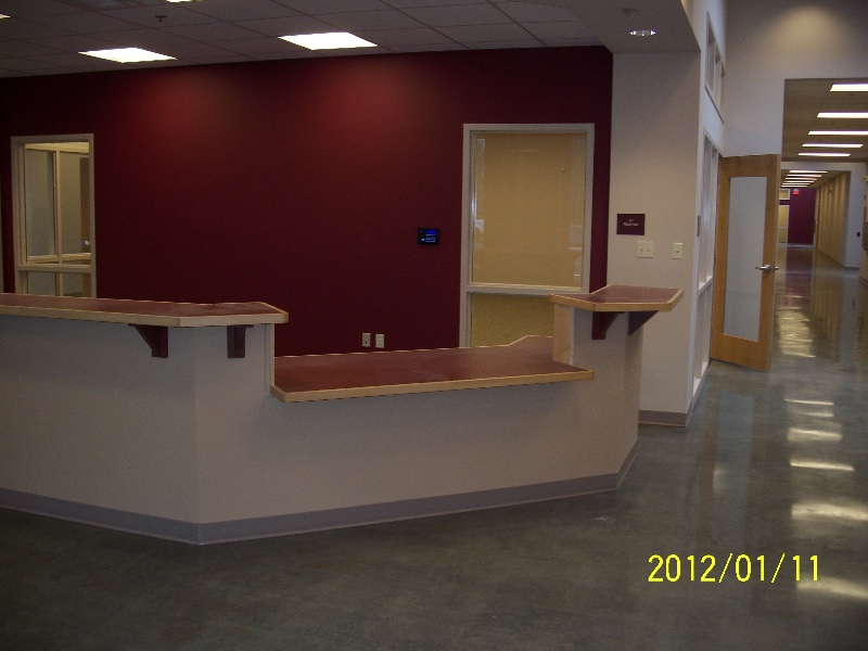 Custom Office Lobby Desk