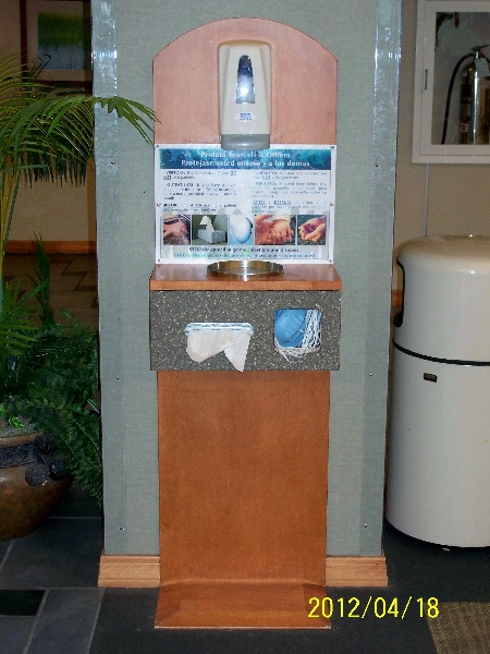 Custom Wood Hand Sanitizing Station