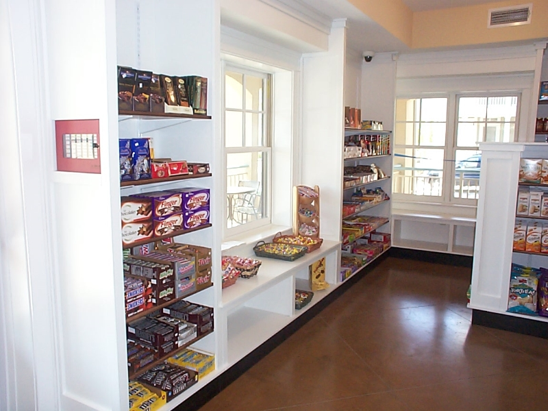 Custom Commercial Store Shelves