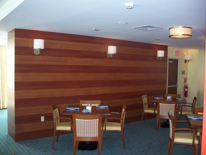 Custom Wood Commercial Wall in Ocean City, MD